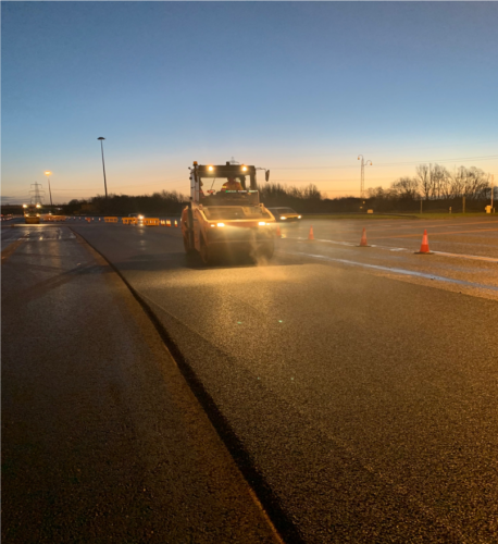 Resurfacing on M4 with Roller
